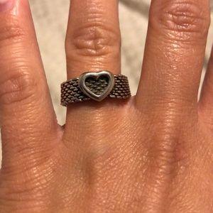 Tiffany's Heart Mesh Ring